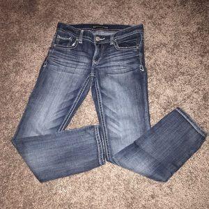 Express low rise jeans size 4 short EUC